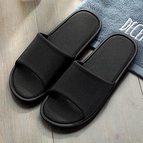 Ligero Zapatos Baño Negro 38 de Mujer plástico Interiores Verano Home Zapatillas Cool de y Delgado 37 Parejas Shoes fankou Antideslizante Baño de Uax1wCEqw