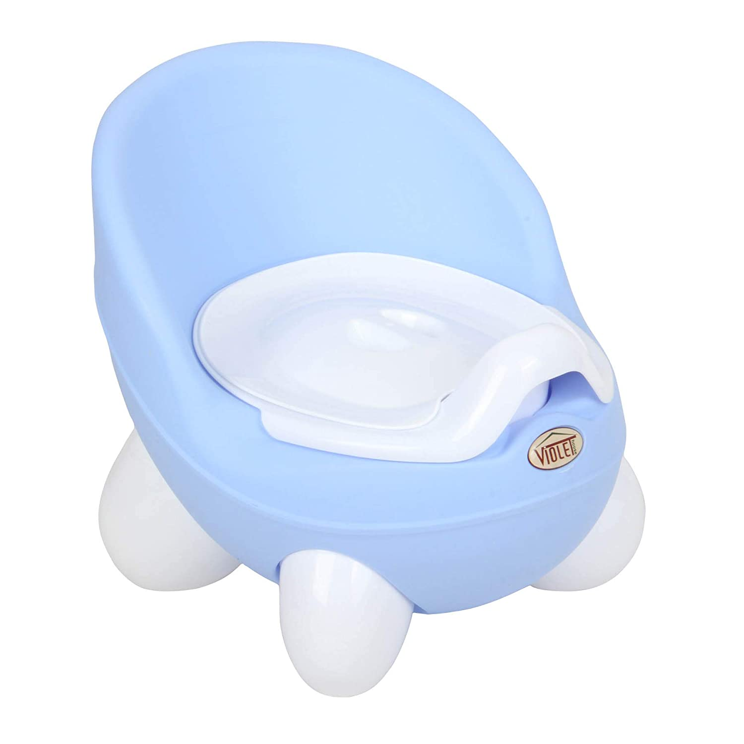 VIOLET House Panda Baby Potty Trainer Plastic Easy Care Blue