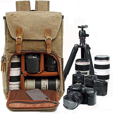 YAOJU Mochila para cámara Mochila fotográfica, gran capacidad para ...