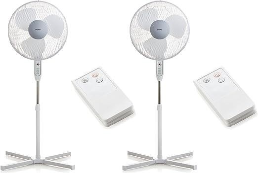 Ventilador de pie con mando a distancia (2 unidades, diámetro de ...