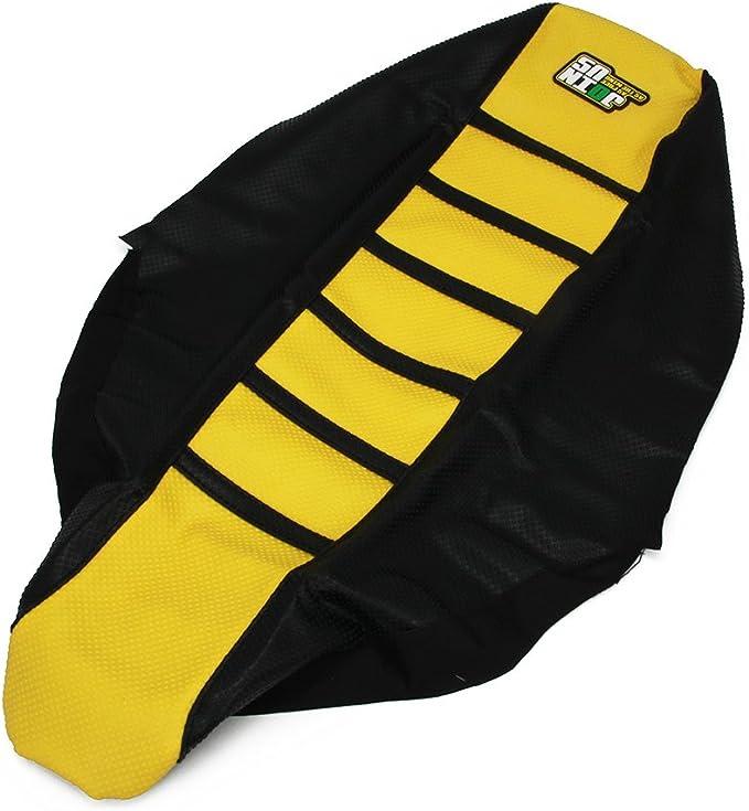nero Coprisedile morbido per gomme per Suzuki DRZ400 00-16 JFGRACING giallo