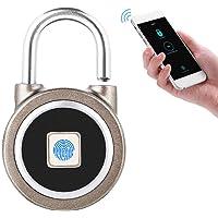 Candado de Huella Digital, Smart Fingerprint Keyless Waterproof