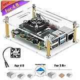 iUniker Raspberry Pi 4 Case, Raspberry Pi 4b Case with Fan Raspberry Pi Fan Case with Raspberry Pi 4 Heatsink Raspberry…