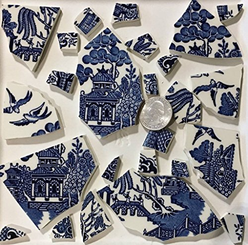 Mosaic Art & Craft Supply ~ Blue Willow Large Feature Tiles (T#494)