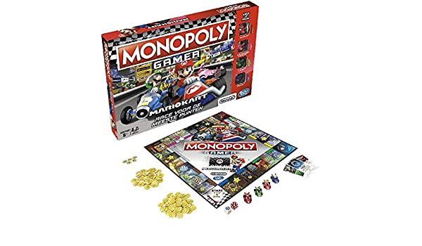 Hasbro Monopoly: Gamer Mario Kart - Juego de Tablero (Simulación económica, Niños y Adultos, Niño/niña, 8 año(s), 32 Pieza(s), Caja): Amazon.es: Juguetes y juegos