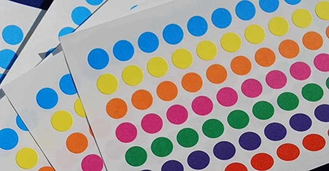 Esposti Assorted Dots Stickers 8mm