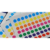 700 STICKY COLOURED DOTS 8mm LABELS DOTS ROUND CIRCLES SELF ADHESIVE ASSORTED COLOURS