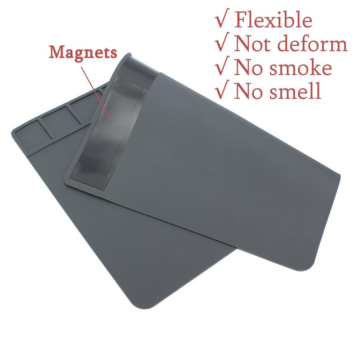49 x 35cm Big Size Magnets Heat Insulation Silicone Soldering Repair Station Platform
