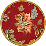 Safavieh Chelsea Collection HK306C Hand-Hooked Red Premium Wool Round Area Rug (3′ Diameter) Review