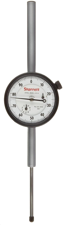 "B0006J4RM2 Starrett 25-2041J Dial Indicator, Long Range, 0.375"" Stem Dia., Lug-on-Center Back, White Dial, 0-100 Reading, 0-2"" Range, 0.001"" Graduation 61uEoZuPb5L"