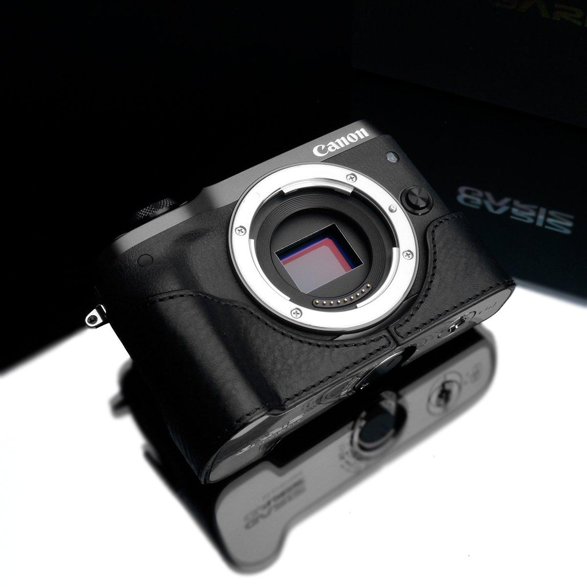 Gariz XS-CHEOSM6BK Genuine Leather Half Case for Canon EOS M6, Black