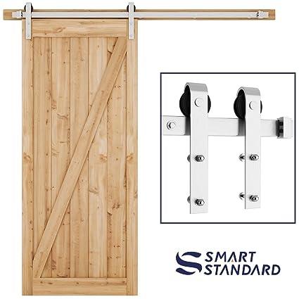 Amazon Com Smartstandard 6 6ft Heavy Duty Sliding Barn Door