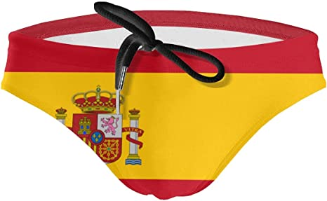 [mjp[p Traje de baño para Hombre Bandera española Sexy Triángulo Swimwear Bundle Bikini Briefs: Amazon.es: Deportes y aire libre