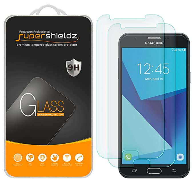 (2 Pack) Supershieldz for Samsung Galaxy J7 V and Galaxy J7V (1st Gen  SM-J727V) (Verizon) Tempered Glass Screen Protector, Anti Scratch, Bubble  Free