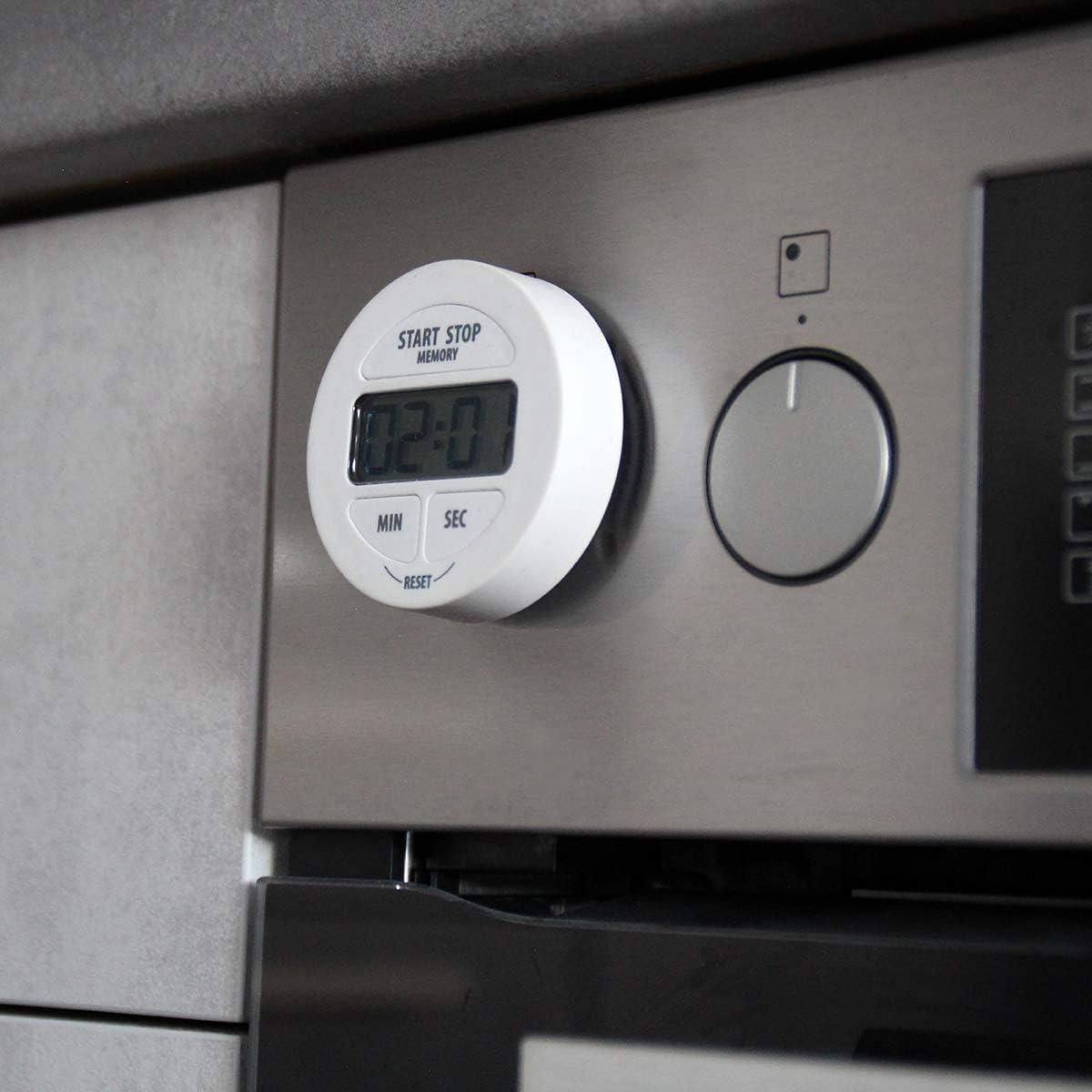 9 x 2 x 7 cm TFA Dostmann Temporizador Digital y cron/ómetro Blanco