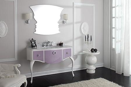 Dafnedesign.com - Mobile da bagno con cassetti e specchio - Glam 01 ...