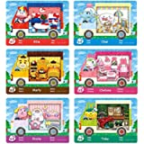 6pcs Pack for Animal Crossing New Horizons ACNH Amiibo Sanrio Mini Card, RV Villager Furniture Outfits Compatible with…