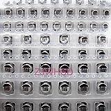(1uF-220uF) 130pcs 13Value SMD Aluminum Electrolytic Capacitor Assorted Kit Set [waynetool]