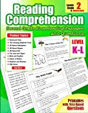 Reading Comprehension: Levels K and L Second Grade Close Reading Passages and Questions for 2nd, Homeschool Grade (Reading Comprehension Passages and Questions) (Volume 9)