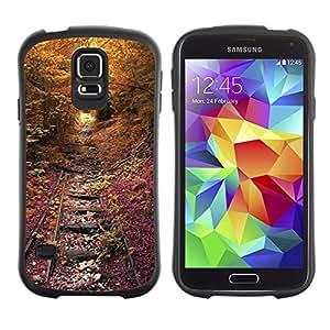 Suave TPU GEL Carcasa Funda Silicona Blando Estuche Caso de protección (para) Samsung Galaxy S5 / CECELL Phone case / / Tracks Rail Road Rustic Fall Nature /
