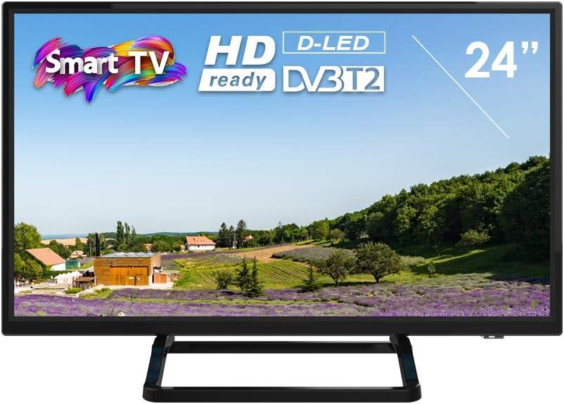 Televisor Smart Tech by BSL de 24 Pulgadas Smart TV DBVT2 | HD Ready de 1366x768pp | Conexión scart, HDMI ARC, HDMIx2, COAXIAL, AV IN, Ypbr: Amazon.es: Electrónica