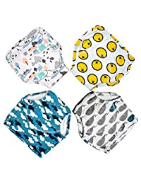 MooMoo Baby Toddler Training Pants 4 Pack Cotton Potty Training Underwear for Toddlers