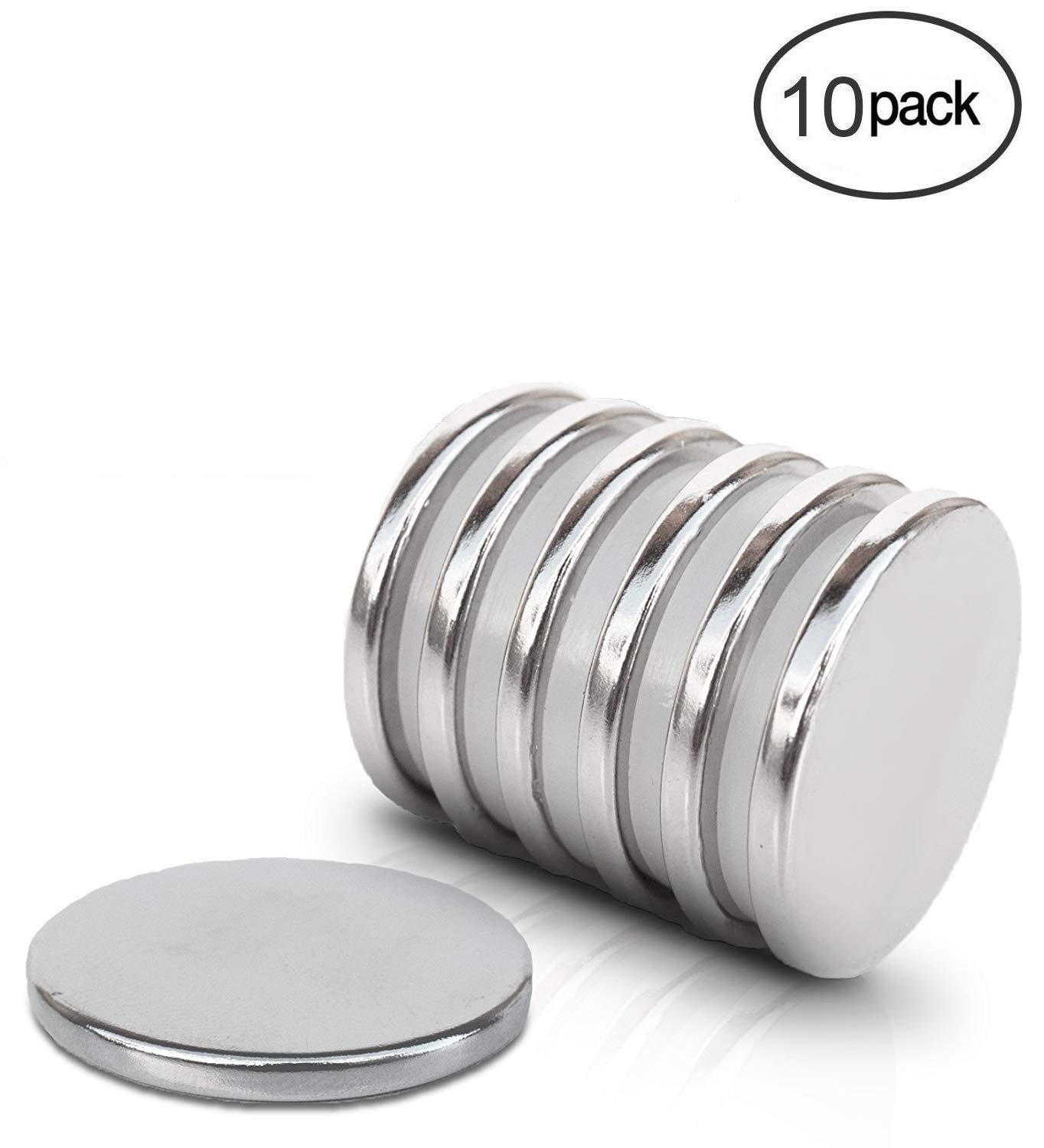 Pack of 10 Magnet Expert 20mm dia x 3mm thick N42 Neodymium Magnet 4.6kg Pull