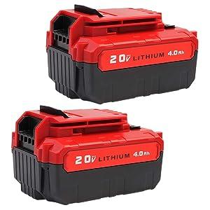 VANON 4.0Ah for Porter Cable 20V Lithium Battery, High Capacity Replacement Battery for Porter Cable PCC685L PCC682L PCC685LP PCC680L PCC600 PCC640 Cordless Tool(2 Pack)