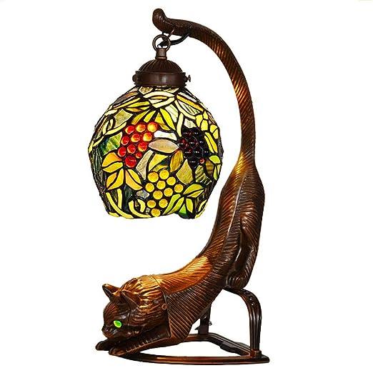 LW Lámparas de Mesa de Tiffany, lámpara de Mesa con Base de ...