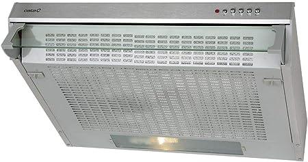 Cata campana extractora integrable | Modelo F 2260 X | 3 niveles de extracción | Motor 2xLF | Sistema de facil instalación | Clase de eficiencia energética D, Acero inoxidable, 600 x 470 x 112 mm: Amazon.es: Hogar
