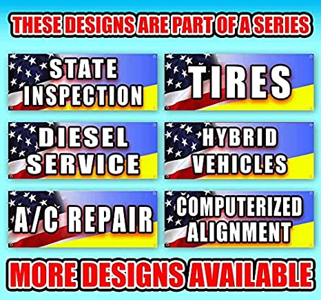 Flag, TIRE Change 13 oz Heavy Duty Vinyl Banner Sign with Metal Grommets Many Sizes Available New Store Advertising