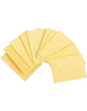 10pcs Esponja Limpieza para Soldadura Soldadura Soldador Esponja Estaño Amarillas