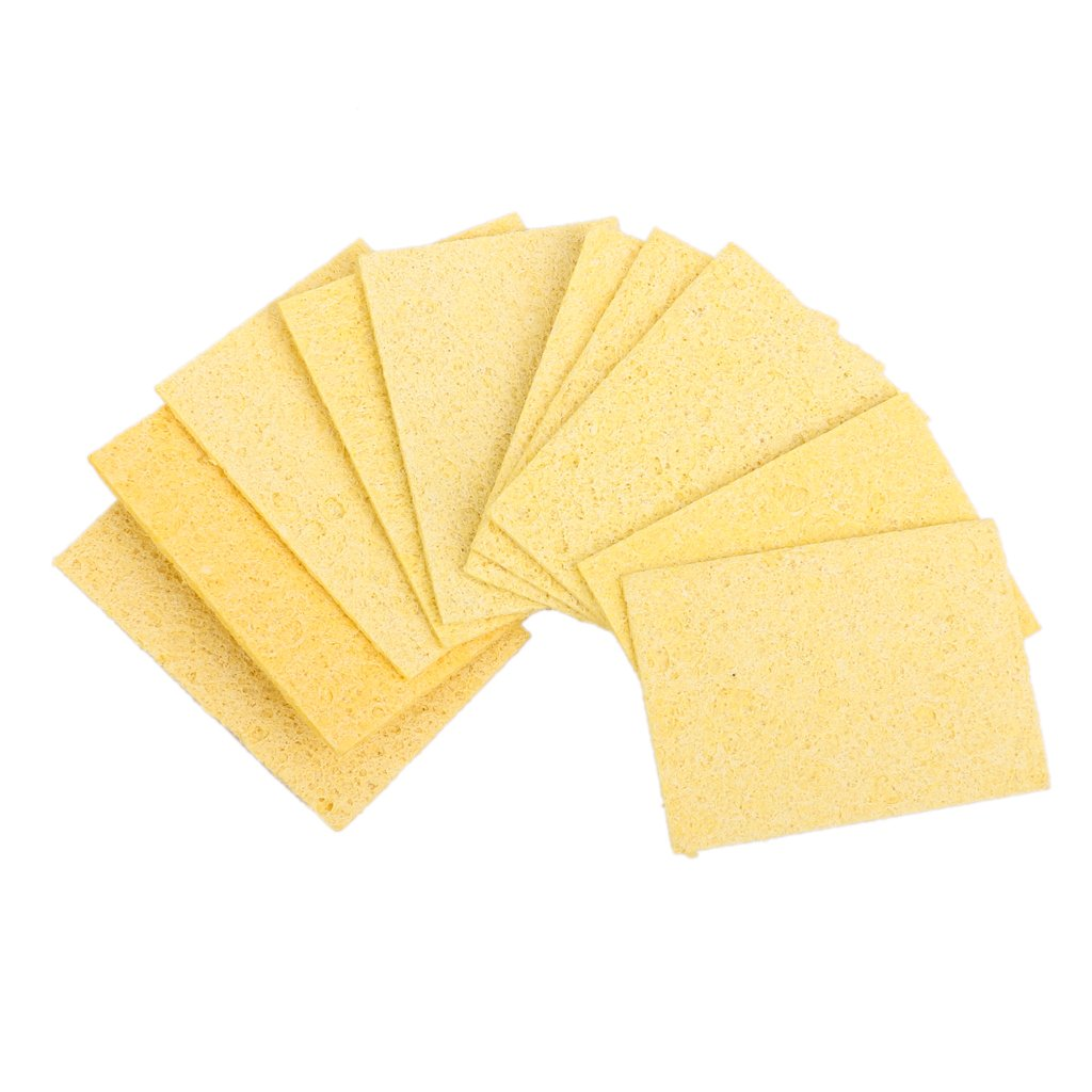 Amazon.com: Soldering Iron Solder Welding Head Cleaning Sponge Remove Tin 10pcs Yellow: Home Improvement