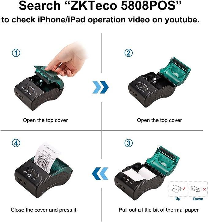 Amazon.com: ZKTeco - Mini impresora inalámbrica con ...
