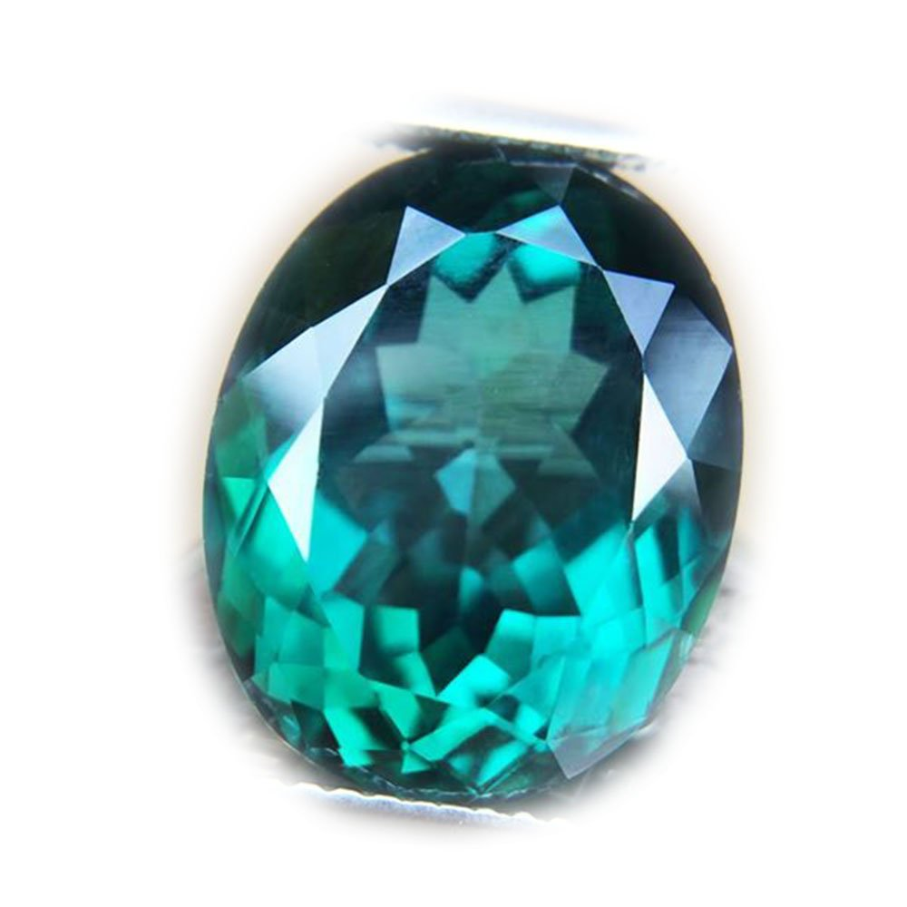 13.89ct Natural Oval Coating Green Topaz Brazil #B