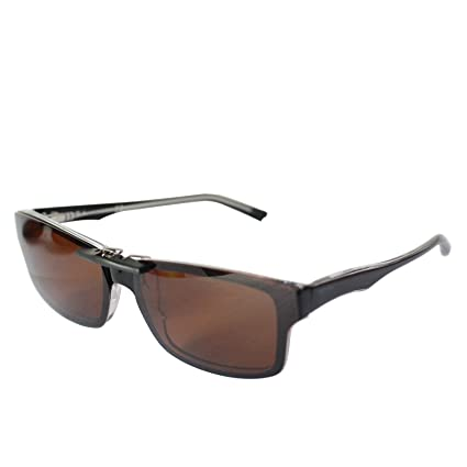 b60bbc64b40c7 Custom Polarized Clip On Sunglasses for Ray-Ban RB5245 (RX5245) 54-17-145(No  Frame) Brown - - Amazon.com