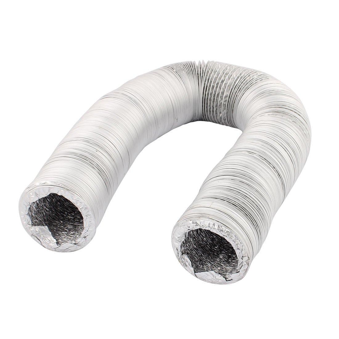 uxcell 8cm Dia Aluminum Foil Hose Ducting Flexible Pipe Ventilation 10M Length w Clamps