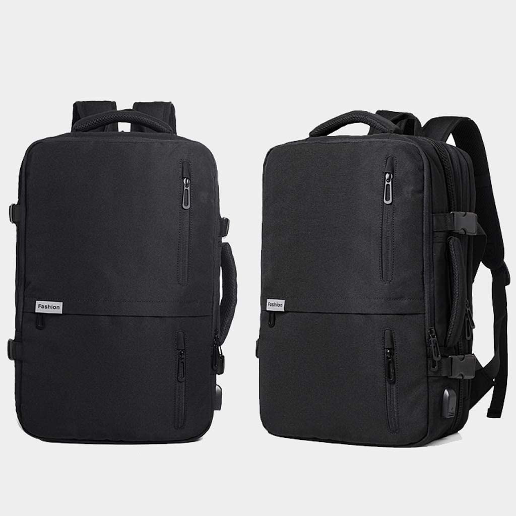 Color : Black Mens Backpack Casual Travel Large Capacity Business Travel Backpack Multifunction Business Youth Handbag Computer Backpack