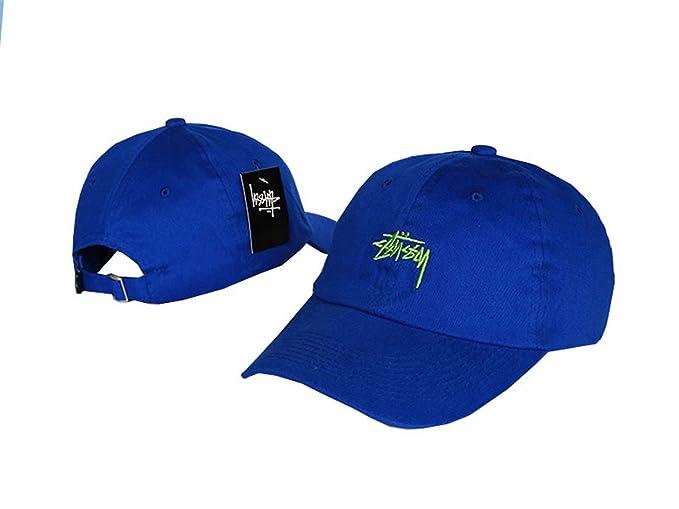 f4f12264b25 Aidan Ellazar Stussy Cap Men   Women s Baseball Snapback Hats Blue ...