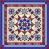Quilt Kit Hexagon Stars, Patriotic/Queen