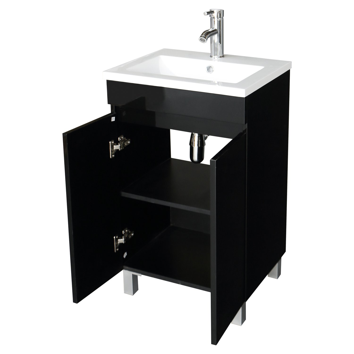 Sliverylake 20 Inch Free Standing Bathroom Vanity Cabinet with 2