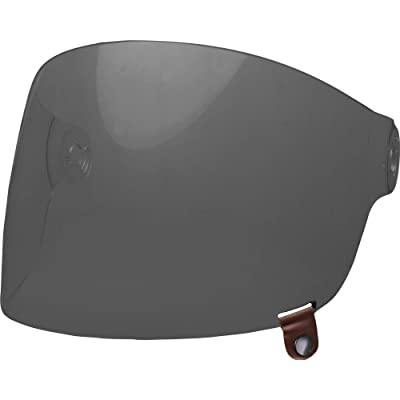 Bell Bullitt Flat Shield, Dark Smoke - Brown Tab: Automotive
