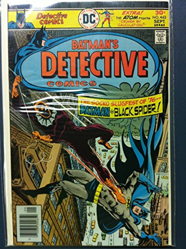 DETECTIVE COMICS ft: BATMAN & ROBIN #463 Black Spider (1st app) : Death-Web Sep 76 Fine to Very Fine (7 out of 10) Very Lightly Used by Mickeys ()
