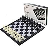 Magnetic Chess Set for Kids and Adults, 13 inch Travel Portable Folding Chess Sets with 3 in 1 Chess Checkers and Backgammon