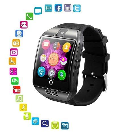Amazon.com: Reloj inteligente con cámara – Bluetooth ...