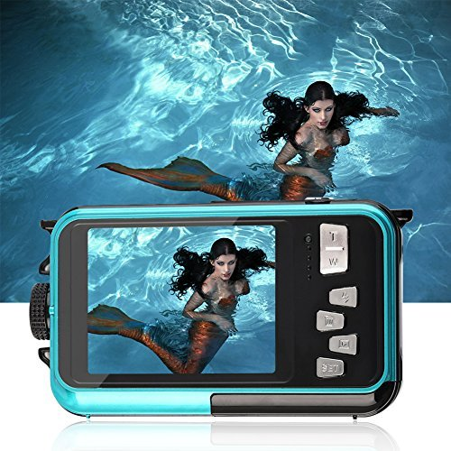 YISENCE Underwater Camera 24.0MP Waterproof Digital Camera Full HD 1080p Dual Screen Point and Shoot Digital Camera