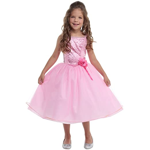 Girls Princess Pink Fairy Fairytale Fancy Dress Costume 10 - 12 Years