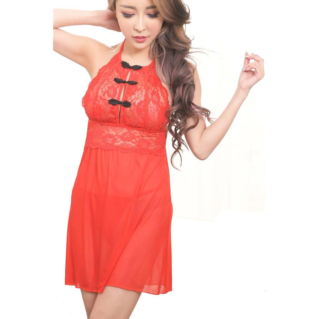 Ailin home- Vestido sexy de mujer sexy sexy sexy sin espalda (Color : Rojo, Tamaño : One size) c1dd69