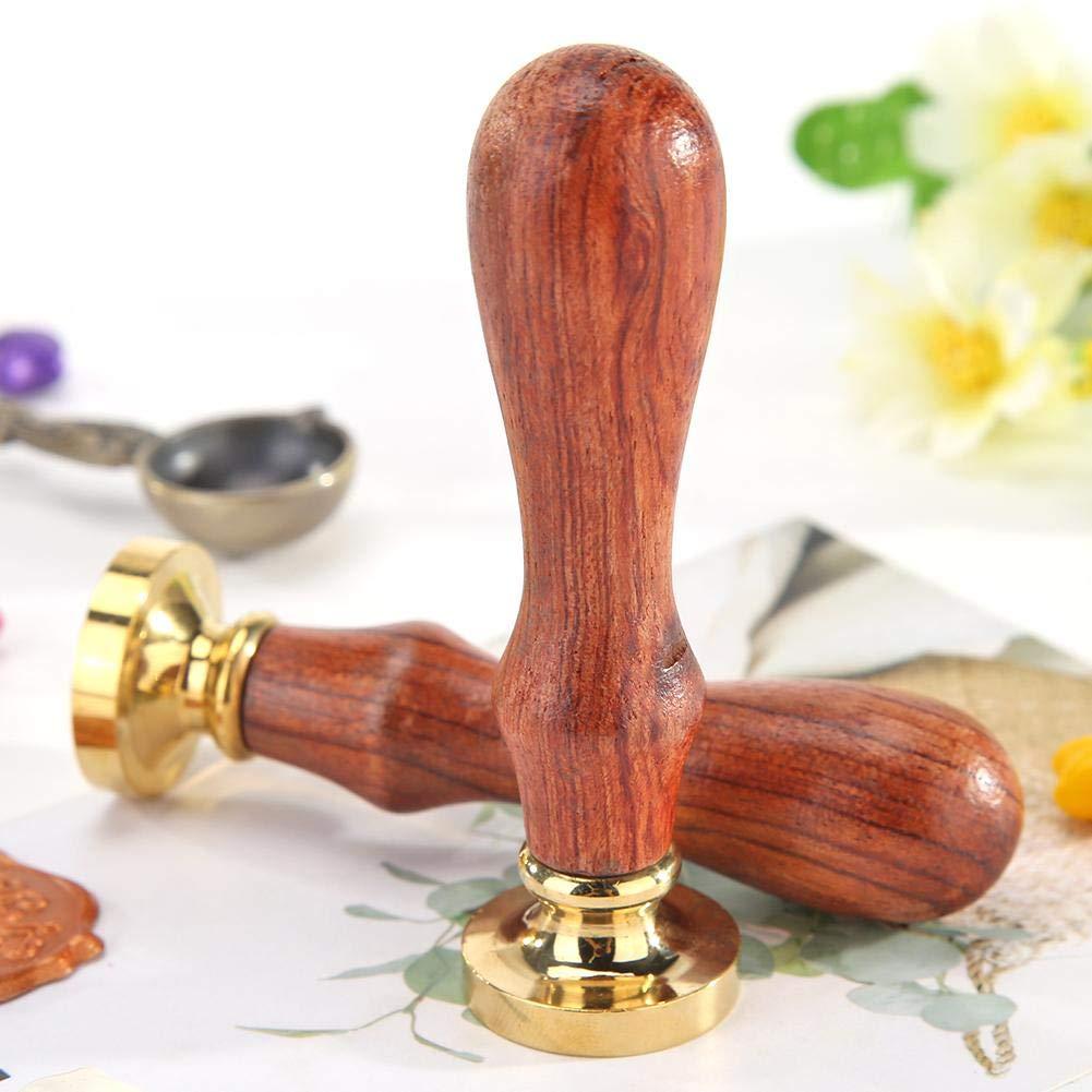 Demiawaking Vintage Timbro Sigillo Ceralacca Personalizzato con Manico in Legno Sigillo Ceralacca Matrimonio DIY Decorazioni per Biglietto dinvito Buste Ortensia