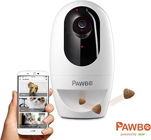 Pawbo Plus Cámara interactiva para Mascotas con tecnología Acer: cámara de Video HD WiFi con Audio bidireccional, con dispensador de golusinas y Puntero láser deseñado para Perros y Gatos: Amazon.es: Productos para